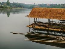 Zattera di bambù Immagini Stock