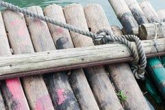 Zattera di bambù Immagine Stock