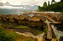 Zattera in Tailandia Immagini Stock