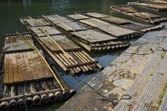 Zattere di bambù Fotografia Stock Libera da Diritti