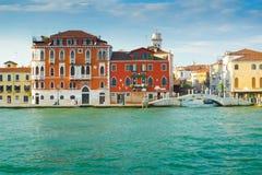 Zattere promenade  from Giudecca. Zattere promenade and bridge seen from  Canale della Giudecca, Venice Stock Photo