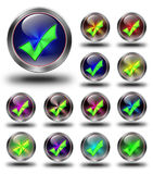 Zatwierdzone glansowane ikony, szaleni kolory Obraz Stock