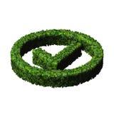 Zatwierdzony, ok, jak, eco znak robić od zielonych liści 3 d czynią Zdjęcia Stock