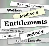 Zatytułowanie programów rządowych Medicare Medicaid opieki społecznej wiadomość ilustracja wektor