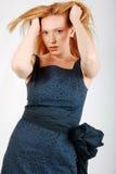 Zauber-blondes Frauen-Art- und Weisekleid-Portrait Lizenzfreie Stockfotos