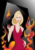 Zauber-Blondine Lizenzfreie Stockfotos