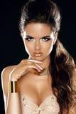 Zauber-Dame. Mode-Schönheits-Mädchen. Herrliches Frauen-Porträt. Styl Stockfotografie