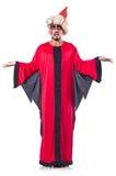 Zauberer im roten Kostüm Lizenzfreies Stockfoto