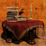 Zauberer-Tabelle lizenzfreie abbildung