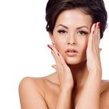 Zauberporträt des Schönheitsmodells lizenzfreie stockbilder