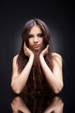 Zauberportrait des schönen Mädchens lizenzfreies stockfoto