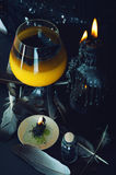 Zaubertrankvorbereitung Halloween-Getränke Lizenzfreies Stockbild