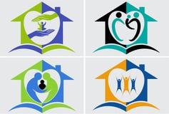 Zaufania loga kolekcja ilustracja wektor