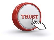 Zaufanie guzik Zdjęcie Stock