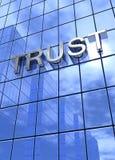 Zaufanie na budynku biurowym Obraz Royalty Free