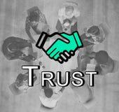 Zaufanie uścisku dłoni partnerstwa Coooperation grafiki pojęcie obrazy royalty free
