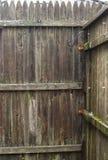 Zaun-alter getragener Aus-Hintergrund Lizenzfreie Stockbilder