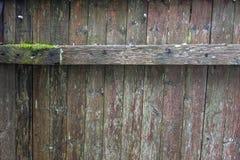Zaun-alter getragener Aus-Hintergrund Stockfoto