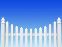 Zaun auf blauem Himmel Stockbilder