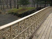 Zaun auf kleiner gehender Brücke, nyc Lizenzfreie Stockfotografie