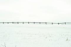 Zaun auf Weiß Stockfoto