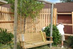 Zaun-Aufbau Stockbilder