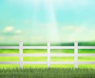 Zaun And Blur Nature des Hintergrundes Stockfotos