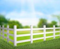 Zaun And Blur Nature des Hintergrundes Stockfotografie