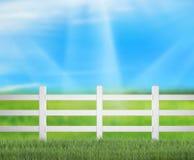 Zaun And Blur Nature des Hintergrundes Stockbilder
