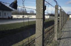 Zaun an Dachau-Konzentrationslager Stockbild