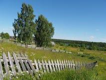 Zaun in der Landschaft Lizenzfreie Stockfotografie