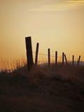 Zaun in der später Abend-Leuchte Stockbild