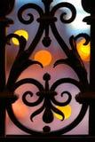 Zaun des bearbeiteten Eisens Stockbild