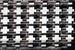 Zaun des roten Backsteins Stockfotografie