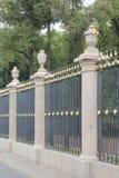 Zaun des Sommer-Gartens Stockbilder