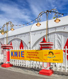 Zaun des Zirkusses Knie in Zürich, die Schweiz Stockfoto