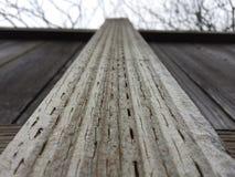 Zaun an einem Wintertag Lizenzfreies Stockfoto