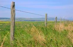 Zaun eines Bauernhofes Stockfotos
