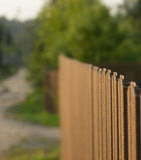 Zaun geht weg lizenzfreie stockfotos