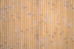 Zaun hergestellt vom Bambus stockbilder