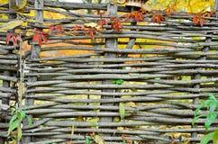 Zaun im Dorf Lizenzfreie Stockfotos
