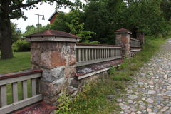 Zaun im Park Lizenzfreies Stockbild