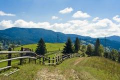 Zaun im Wald Lizenzfreie Stockfotos