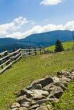 Zaun im Wald Lizenzfreie Stockbilder
