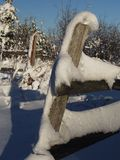Zaun im Winter Lizenzfreie Stockfotos