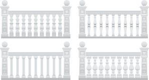 Zaun mit Steinpfosten Stockfotografie
