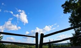 Zaun Natchez Trace Parkway lizenzfreie stockfotos