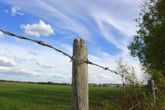 Zaun Post Stockbild