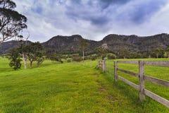 Zaun Ridge BTops Gloucester Stockfotografie