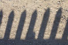 Zaun Shadow Stockfotografie